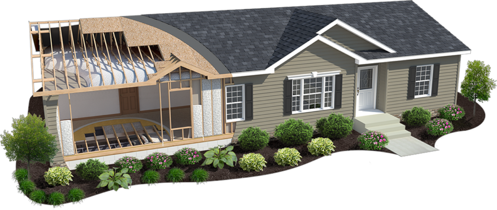 Energy Smart Home Rendering